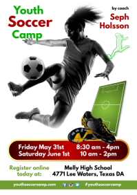 Youth Soccer Camp Flyer A4 template
