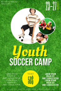 Youth Soccer Camp flyer template