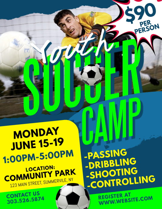 Youth Soccer Camp Flyer