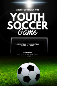 Youth Soccer Game Flyer Design Template