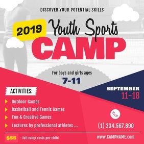 Youth Sports Camp Square Video