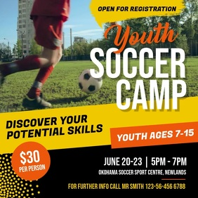 Youth Sports Soccer Camp Square Video