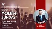 YOUTH sunday church flyer 数字显示屏 (16:9) template