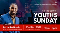 youth sunday church flyer Ekran reklamowy (16:9) template