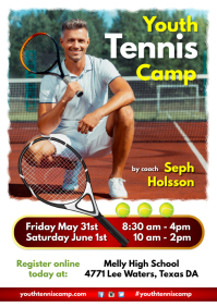Youth Tennis Camp Flyer A4 template