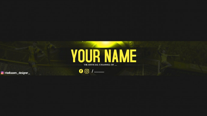 youtube banner by belkacem designer template