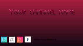 YouTube banner template