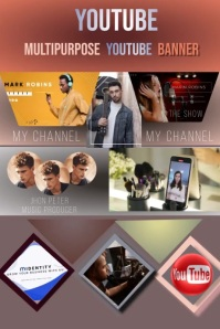 YOUTUBE BANNER TEMPLATE Bannière 4' × 6'