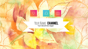 youtube banner template Coverfoto til YouTube-kanal