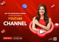 Youtube channel ads Postkarte template