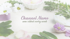 Youtube Channel Art Flowers template