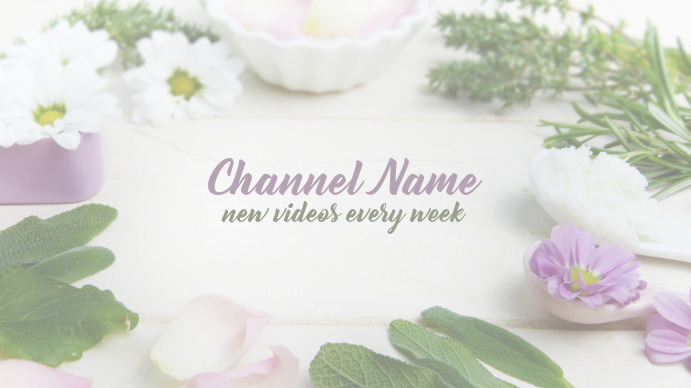 Youtube Channel Art Flowers
