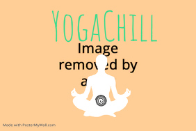 yoga relaxation poster flyer template