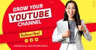 YouTube Channel thumbnail ปกอีเวนต์ Facebook template