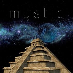 youtube channel/thumbnail/fantasy/maya Cuadrado (1:1) template