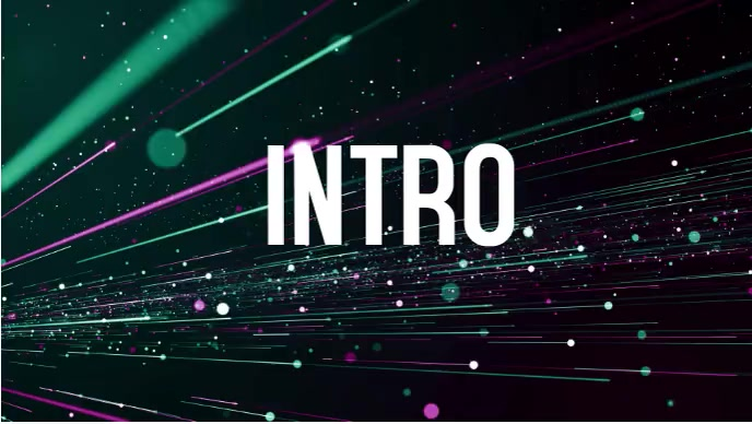 YouTube cool intro video template