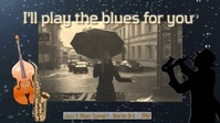 Youtube Cover/Album/blues/Song/Jazz/Swing Facebook-omslagvideo (16: 9) template