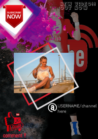 Youtube A3 template