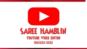 Youtube Editor Business Card