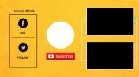 Youtube end card Digital na Display (16:9) template