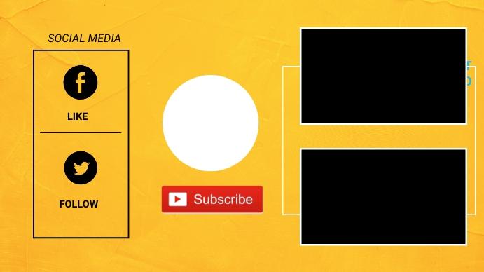 Youtube end card Digital Display (16:9) template