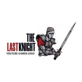 youtube gamer knight logo icon Логотип template