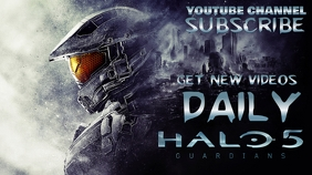 youtube gaming channel cover Halo 5