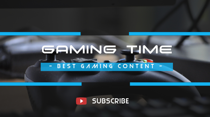 YouTube Gaming Cover Art Template Omslagfoto YouTube-kanaal