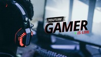 YouTube Live Thumbnail for Gaming template