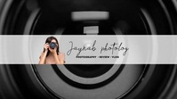 Youtube Photography channel art animated template