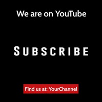 Youtube subscribe invitation video ad Quadrato (1:1) template