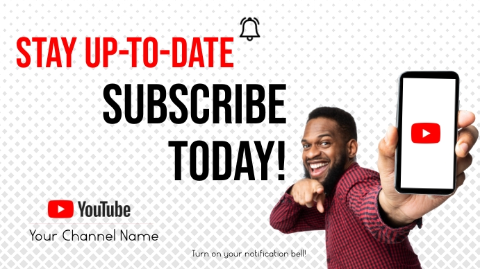 YouTube Subscribe 数字显示屏 (16:9) template