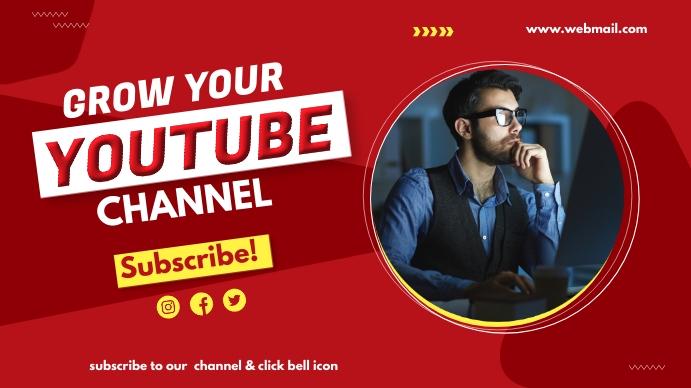 YouTube thumbnail Omslagfoto YouTube-kanaal template