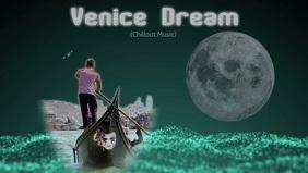 Youtube thumbnail/facebook video/venice/italy Facebook-covervideo (16:9) template