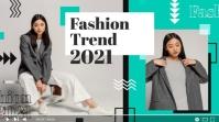 Fashion youtube thumbnail flat geometric design template