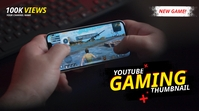 YouTube Thumbnail for Gaming template