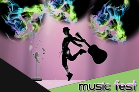 youtube thumbnail/music festival/stage guitar