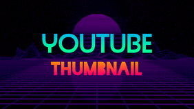 Youtube Thumbnail Retrowave template