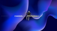 YT Cahnnel Art Cover YouTube-Kanal-Coverfoto template