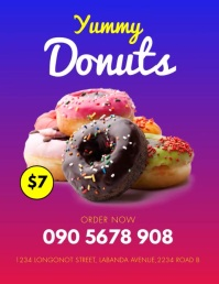 YUMMY DONUTS FLYER template