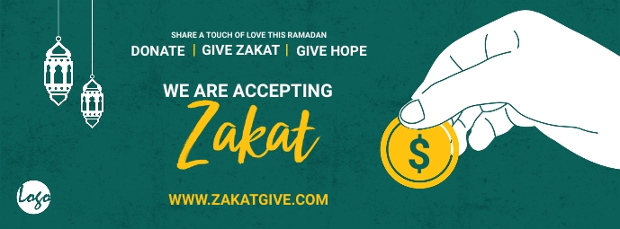 Zakat collection facebook cover template
