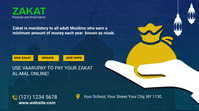 Zakat collection twitter post template