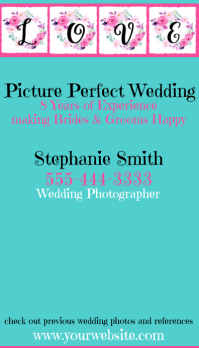Zazzle Wedding Photographer Business Card Visitenkarte template