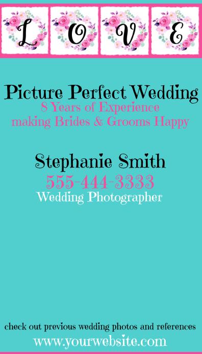 Zazzle Wedding Photographer Business Card