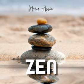 Zen pebbles Portada de Álbum template
