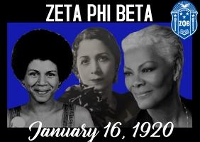 Zeta Phi Beta Founders Day Poskaart template