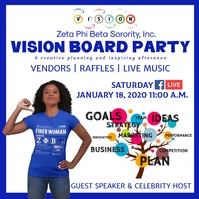 Zeta phi beta vision board party