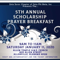 Zeta Prayer Breakfast Instagram Post template