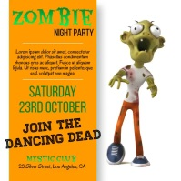 Zombie, Night Party Instagram na Post template