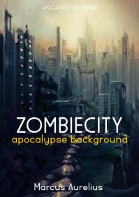 zombie city apocalypse book cover A4 template